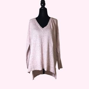 Pink Speckled Long Sleeve Sweater